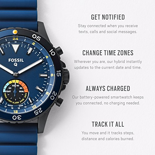 Fossil Hybrid Smartwatch Crewmaster Stainless Steel and ...