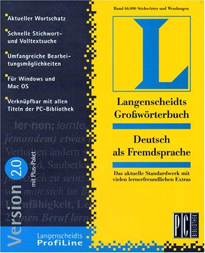 Langenscheidts Großwörterbücher Version 2.0, CD-ROMs : Deutsch als Fremdsprache, 1 CD-ROM