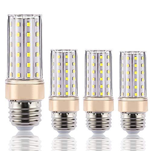 ILAMIQI E26 LED Bulbs Dimmable, 10W LED Corn Light Bulb,100 Watt Equivalent, Standard Base E26 LED Chandelier Bulbs, Daylight White 4000K for Ceiling Fan,Flicker Free, Tubular,Pack of 4 10w Led Medium Base