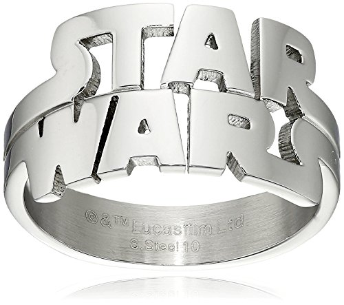 Star Wars Jewelry Men's Cut Out Logo Stainless Steel Ring, Size 10