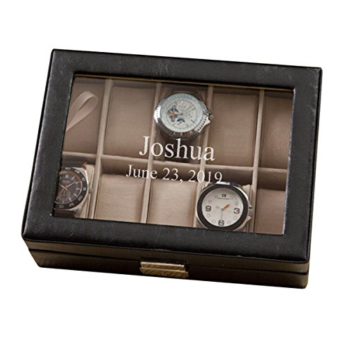 Leather Watch Storage Box - Watch Display Case - 2Lines ()