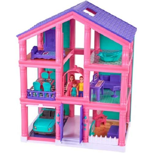Kid Connection 24-Piece 3-Story Dollhouse Play Set for sale  Delivered anywhere in USA