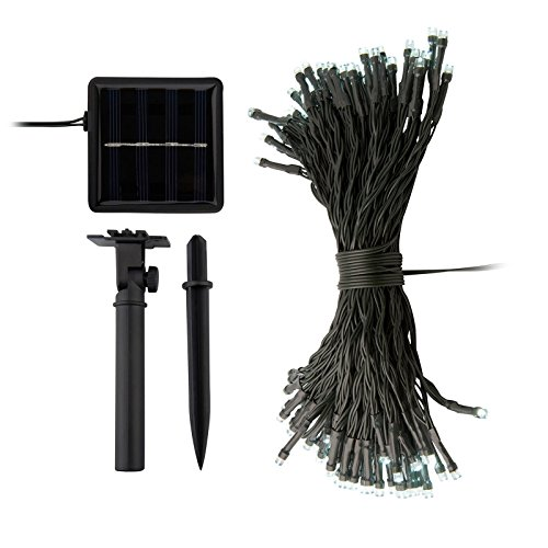 Ora LED Solar Powered String Lights with Automatic Sensor, Black, (55FT 2 Pack, 200LEDs Total)