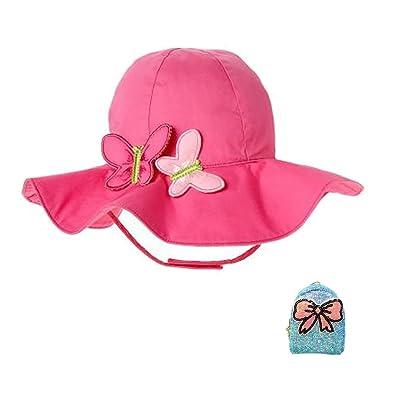 ACTLATI Kids Toddler Baby Butterflies Sun Hat Wide Brim UV Protective  Cotton Bucket Hat With Coin ba3492f63c12