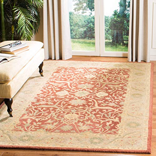 Safavieh Antiquities Collection AT14C Handmade Traditional Oriental Rust Wool Area Rug 6 x 9