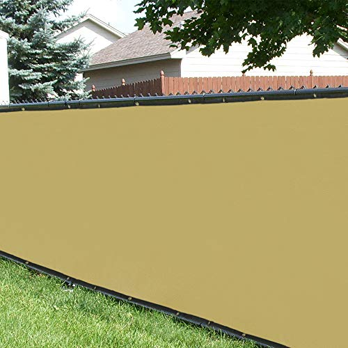 Shade&Beyond 4' x 50' Privacy Fence Screen Sand Heavy Duty 150 GSM Sand Fencing Mesh Shade Net Cover for Wall Garden Yard Backyard Indoor Outdoor Home Decoration