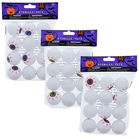 12 Plastic EyeBalls (3 Packs) -
