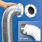 Dryer Dock Dryer Vent 6' for 4' Tubes, White