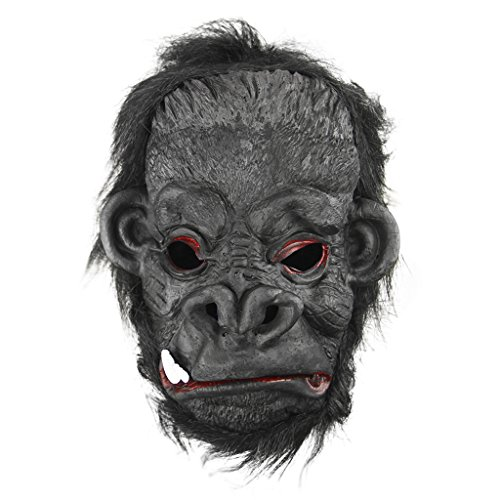 Halloween Party Fancy Dress Costume Props Latex Animal Head King Kong Ape Mask]()