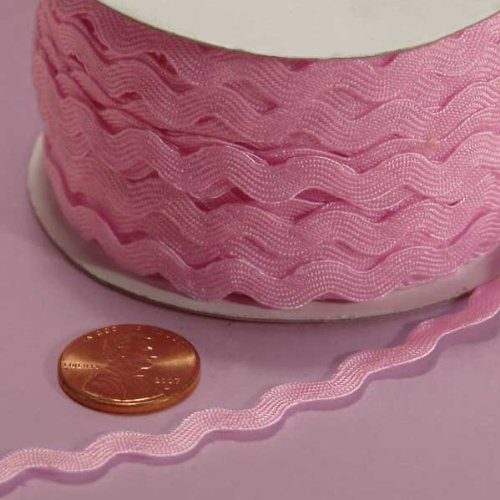 - 7MM X 25YD PINK RIC RAC TRIM
