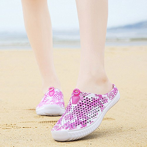 Water Hot Pink Walking Sandals Shoes Beach Womens Allywit Slippers Footwear Breathable nzYHvTWq7F