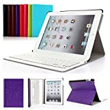 iPad 2/3/4 Keyboard Case, Symbollife Apple Bluetooth Ipad Keyboard Ultra Slim Pu Leather