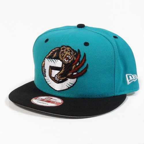 New Era Vancouver Grizzlies Alternate Logo Snapback Teal and Black (Alternate Logo Cap)