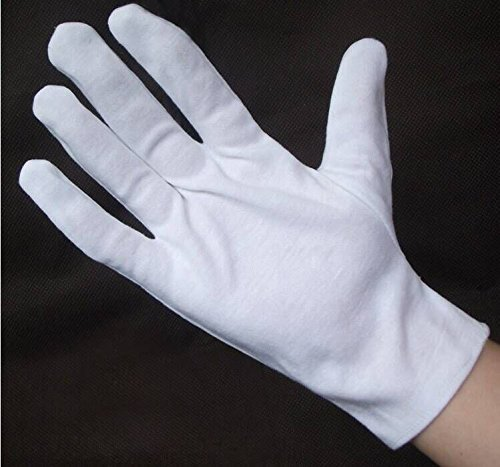 Wowlife White Soft Cotton Gloves Lightweight Gloves film, coins, CD/DVD,Etiquette, Handling Gloves (24) by Wowlife (Image #5)