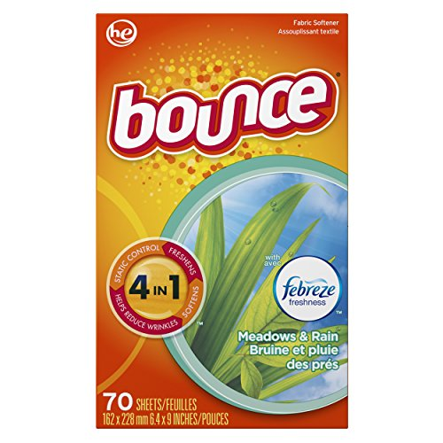 Bounce with Febreze Meadows & Rain Dryer Sheets, 70 Count, (Pack of 3) by Bounce (Image #1)