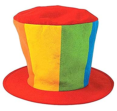 Dondor Enterprises Oversized Clown Top Hat Felt Party Clown Hat