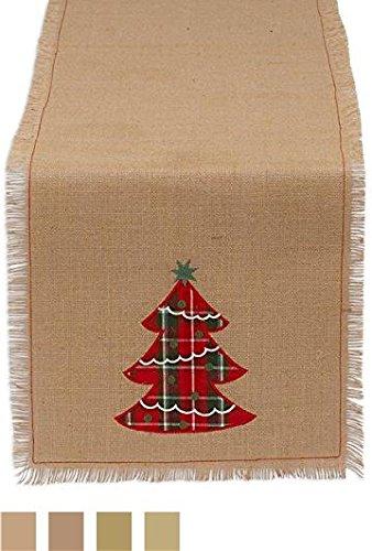 DII Holiday Embroidered Fringe Burlap product image