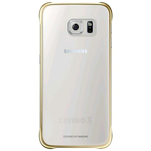 178 opinioni per Samsung Custodia Clear Cover per Galaxy S6, Oro