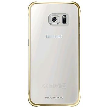 48522ea1a60 Samsung Clear Cover - Funda oficial para Samsung Galaxy S6, color oro-  Versión Extranjera: Amazon.es: Electrónica