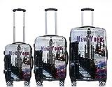 Rivolite New 3 Piece Luggage Set Luggage Set 20''/24''/28'' Suitcase ( New York)