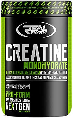 Real Pharm Creatine Creatin Kreatin Monohydrat - 500g (Mango-Ananas)