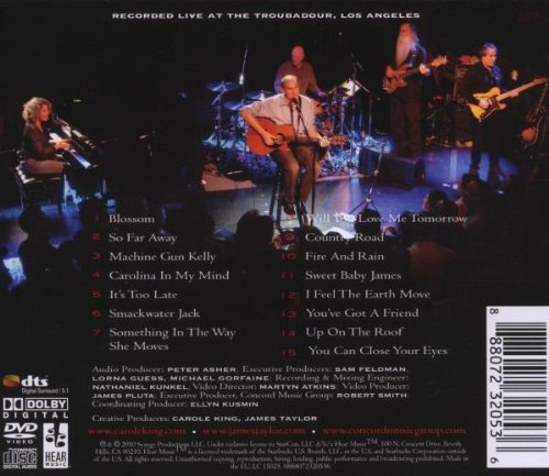 Carole King & James Taylor: Live At The Troubadour by Columbia