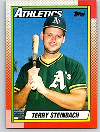 Amazoncom 1990 Topps 145 Terry Steinbach Mint Baseball Mlb