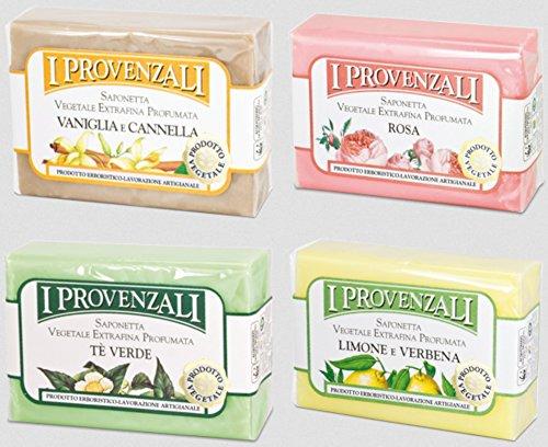 i-provenzali-set-of-four-saponetta-vegetale-vegetable-perfumed-soap-lemon-verbena-green-tea-rose-van