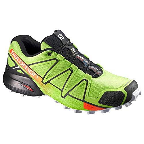 SALOMON SPEEDCROSS 4 VERTE ET ORANGE Chaussures trail salomon