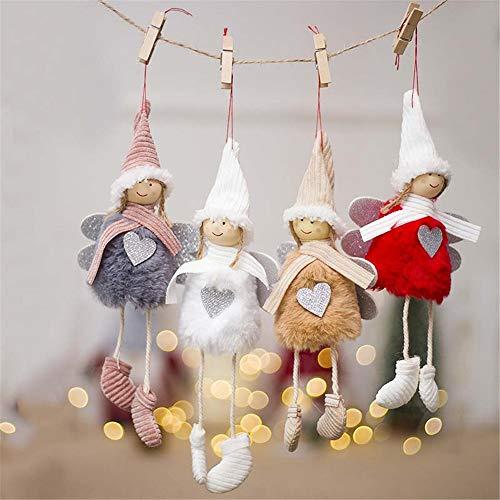 Kimkoala Creative Kawaii Christmas Tree Hanging Dool Ornaments Decorations Santa Claus Pendants Home Decor (Angel)