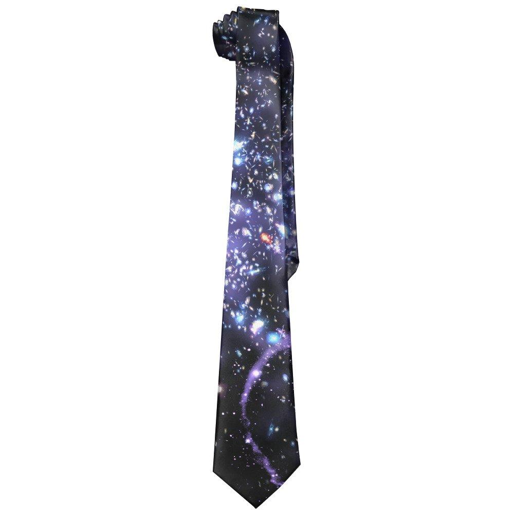DNUPUP Space Galaxy String Polyester Silk Fashion Gentleman Tie Necktie Gift Box