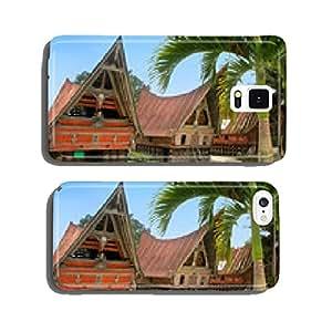 Traditional Batak houses on Samosir island, Sumatra, Indonesia cell phone cover case iPhone6
