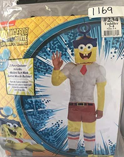Cheap Spongebob Costume (SpongeBob SquarePants The Movie Invincibubble Costume (3-4T))