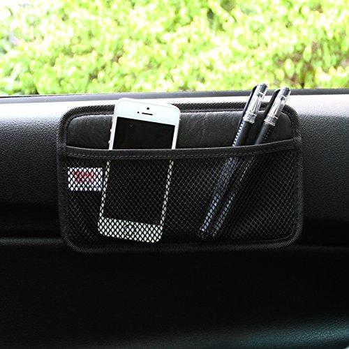 happyle Autotelefon Tasche Auto Taschen Aufbewahrungstasche Paste Typ Nutzfahrzeug Netzbeutel Aufbewahrungsbox Autozubeh/ör Schwarz