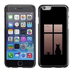 GagaDesign Phone Accessories: Hard Case Cover for Apple iPhone 6 Plus 5.5 Inch - Cat On Window