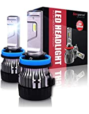 Mini LED Headlight Bulb, 5000LM x 2 Bulbs 6500k White Light - Conversion Kits, All-in-One 2 Yr Warranty