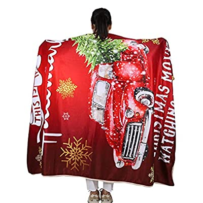 This is My Christmas Movie Watching Blanket Quilts, Soft Cozy Warm Plush Throws for Adults Kids 59in x 79in: Home & Kitchen