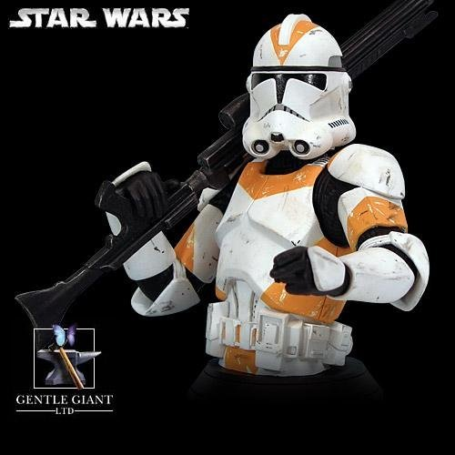Busts Wars Gentle Star Giant - Gentle Giant Star Wars Clone Trooper Rots Mini Bust Orange