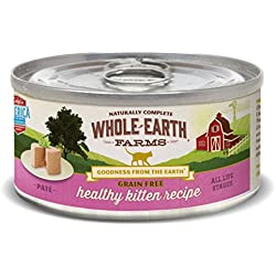 Whole Earth Farms 24 Case Grain Free Real Healthy Kitten Recipe, 2.75 oz