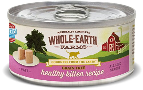 Whole Earth Farms 24 Case Grain Free Real Healthy Kitten Recipe,...