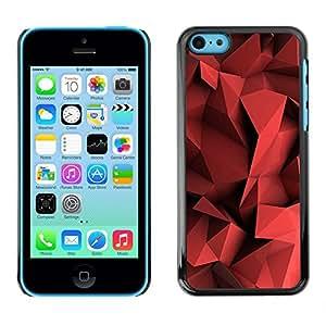 For Apple Iphone 5C - Red Blood Polygon Plastic /Modelo de la piel protectora de la cubierta del caso/ - Super Marley Shop -