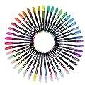 Legros 2 PCS Pastel Glitter Colored Gel Pen Drawing Writing Marker Pen School Office