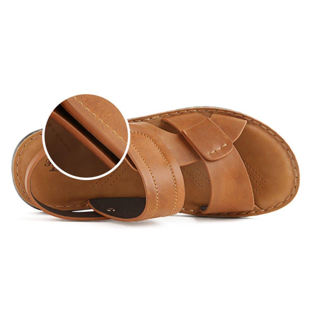 Sommer Neue Männer Hausschuhe Mode äußeren Strand Schuhe Leder Sandalen F Weichen Sandalen Casual Herrenschuhe F Sandalen 88bbaa