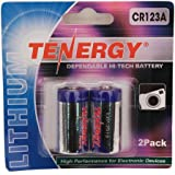 Tenergy Propel CR123A Lithium Photo Battery with PTC Protected