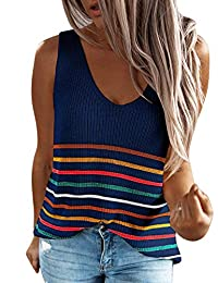 Eddoyee Women Loose Cami Tank Tops Sleeveless Shirt Casual Blouses for Summer Vacation