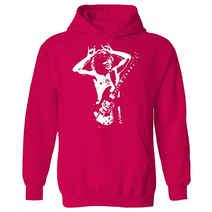 para Hombre Angus Young Iconic Rock ACDC Sudadera con Capucha: Amazon.es: Ropa y accesorios