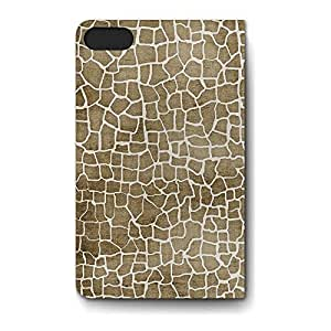 Leather Folio Phone Case For Apple iPhone 5C Leather Folio - Giraffe Print Flip Soft by lolosakes
