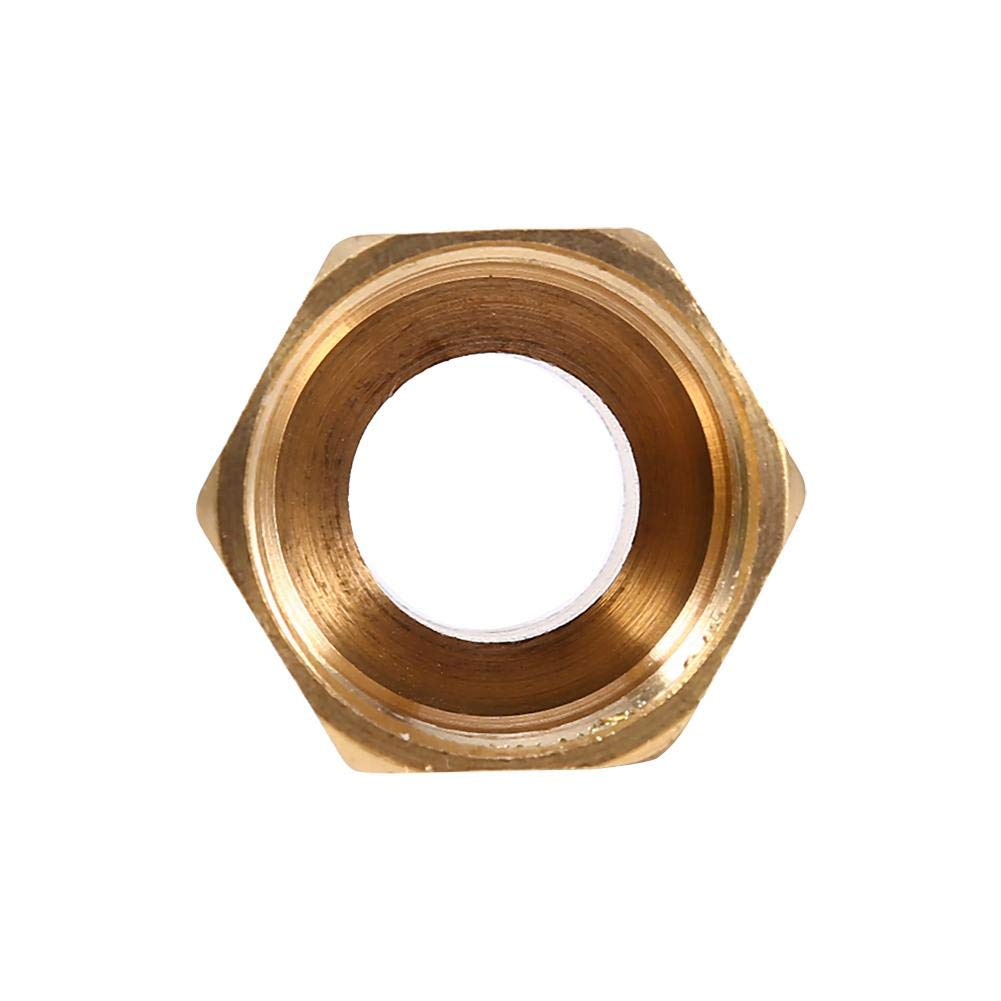 Pipe Fitting Brass Water Pipe Hex Bushing Reducer Adapter 1//2BSPT Male and 3//4BSPT Female Thread for Water Meter Water Softener