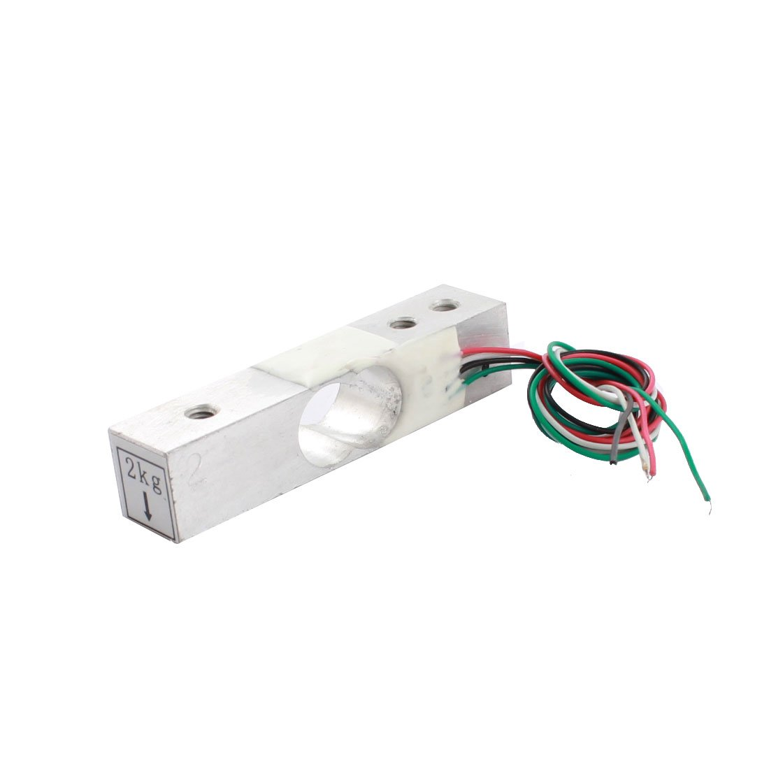 Aexit 2Kg 3mm 3-Hole Aluminium Alloy Portable Electronic Scale Load Cell