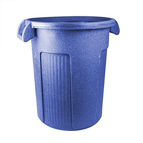 UltraSource Commercial Atlas Waste Container, 32 gal, Blue by UltraSource